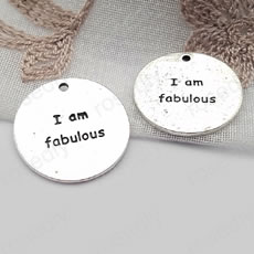 圆形字牌 I am fabulous