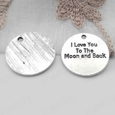 圆形字牌 I love you to the moon and back